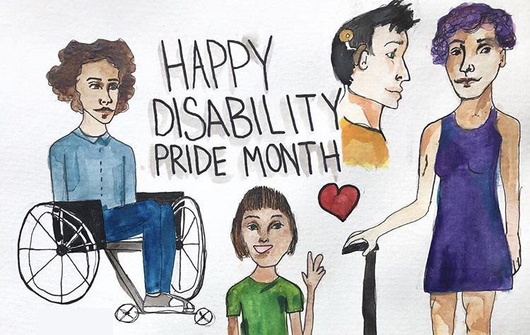 Disability pride artwork by Jude Brzozowski